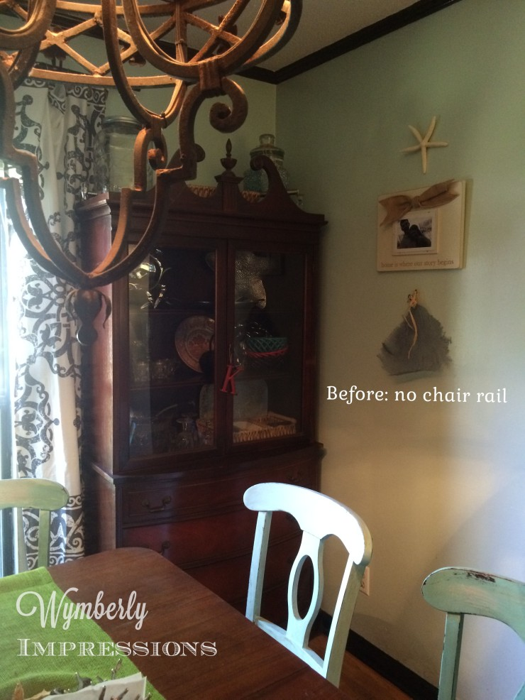 How to: Dockwood Chair Rail by Wymberly Impressions