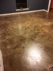 How to Stain Concrete Floors by Wymberly Impressions
