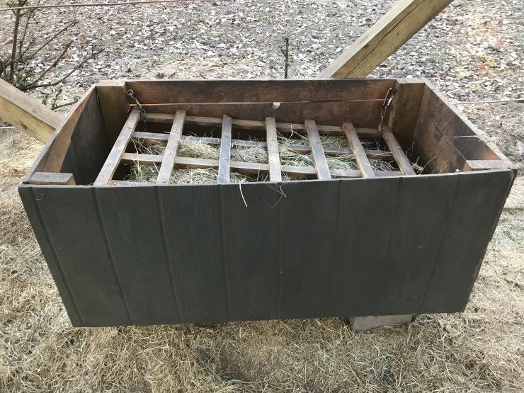 DIY Hay Slow Feeders by The Homestead Kings